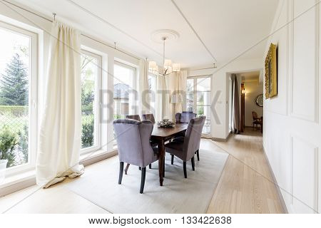 Beautiful Dining Room In Elegant Style