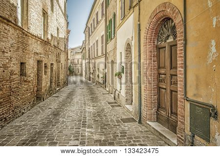 An image of a typical italian city street