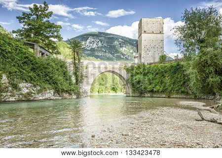 An image of a nice bridge at Frasassi Marche Italy