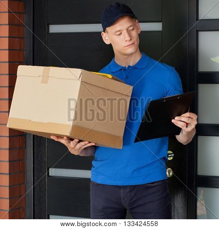 Delivery Guy Waiting For Client