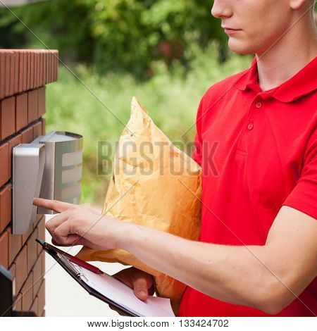 Delivery Guy Calling On Entryphone