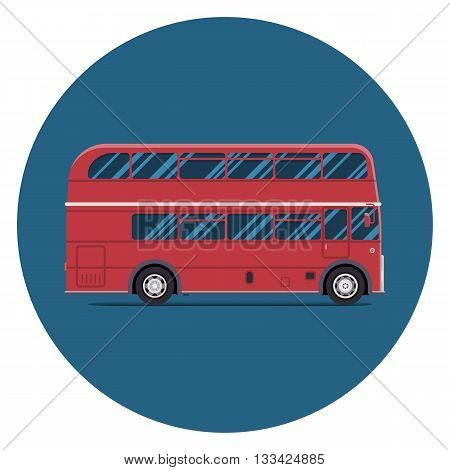 London bus sity transportation. Modern flat design. Vector illustration