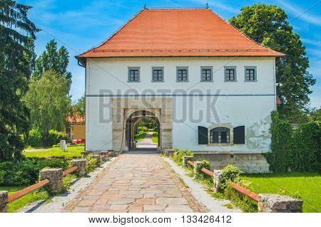 Old city gates in Varazdin, Croatia from 13 century