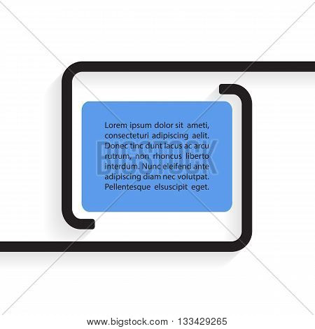Quote text bubble. Quote blank template. Vector illustration.
