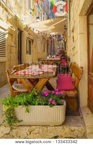 Alley In Korcula, Croatia