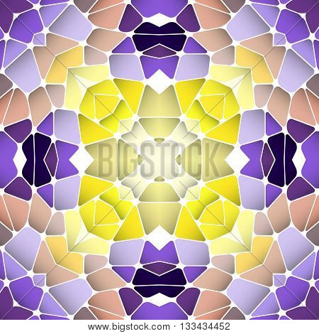 Bright seamless abstract pattern kaleidoscope. Vector design template for art.