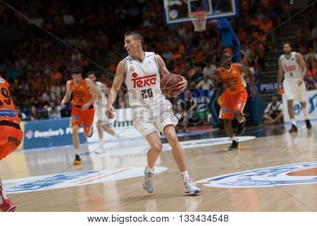 VALENCIA, SPAIN - JUNE 7th: Carroll during 3rd playoff match between Valencia Basket and Real Madrid at Fonteta Stadium on June 7, 2016 in Valencia, Spain