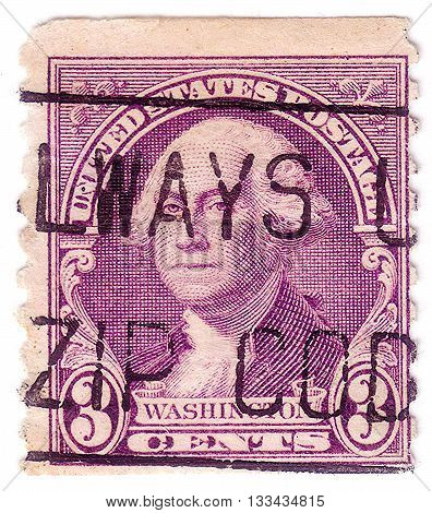 United States Of America - Circa 1932: A Stamp Printed In Usa Shows Portrait Of 1St President Of Usa