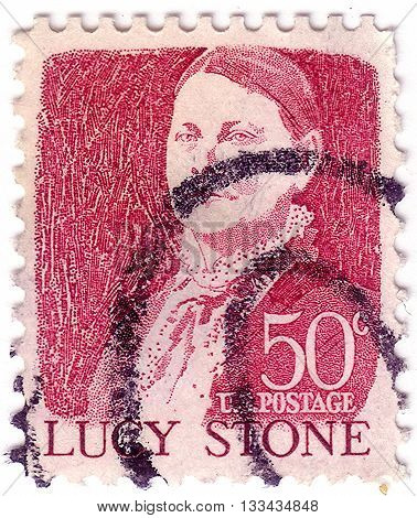 Usa - Circa 1968: A Postage Stamp Printed In Usa, Shows A Portrait Of A Prominent American Orator, A