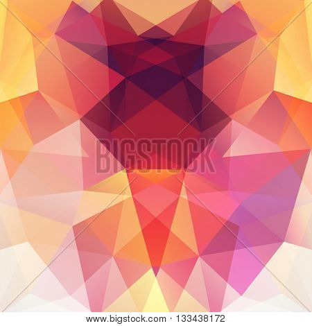 Background Made Of Triangles. Square Composition With Geometric Shapes. Eps 10 Yellow, White, Pink,