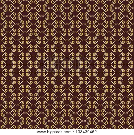 Seamless vector ornament. Modern geometric pattern with repeating elements. Brown and golden pattern