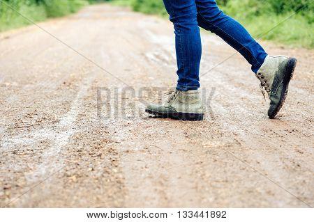 Woman Traveller Walk