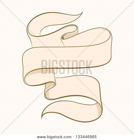 Hand made calligraphy vector tattoo chicano ribbon