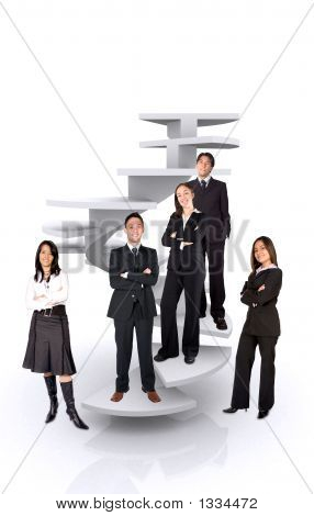 Business Team Work - Corporate Ladder