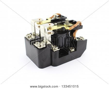 Electromagnetic relay, power relay, isolated on white background