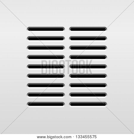 Abstract audio speaker template, dynamic with perforated grill pattern for design concepts, graphic elements, web, prints, apps, applications, user interfaces, UI. Vector illustration.