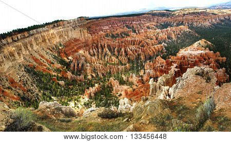 View of Bryce Canyon Utah United States showing the