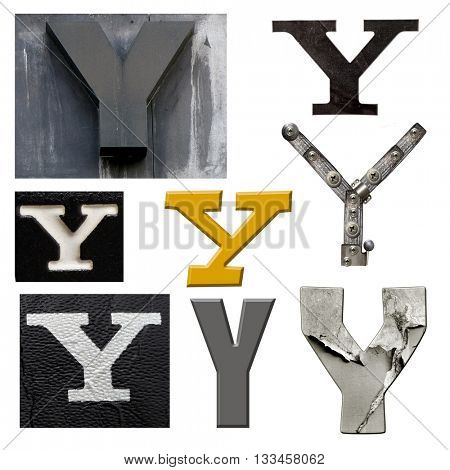 Collection alphabet. Letter Y