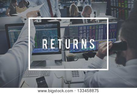 Return Investment Deposit Accumulation Deposit Concept