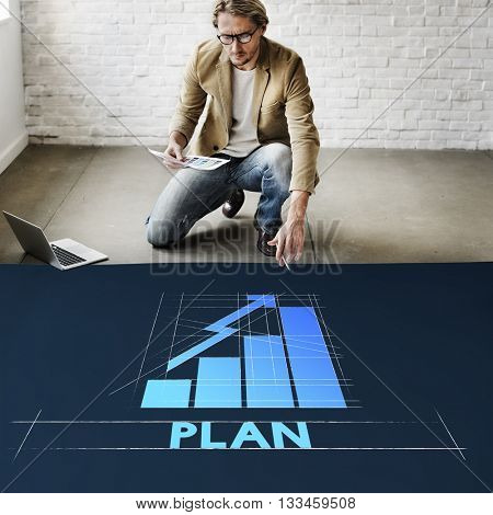 Plan Business Growth Graph Graphic Concept