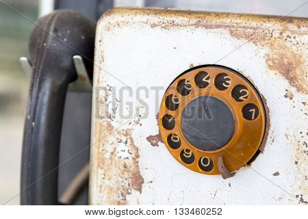 Old Public Rotary Phone
