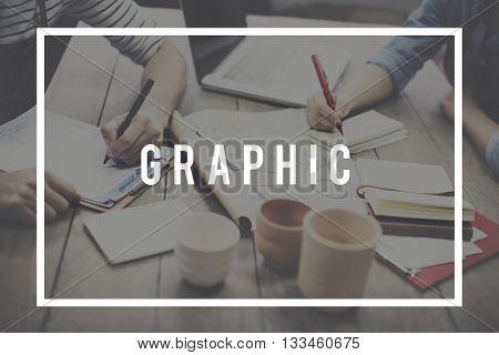 Graphic illustration Creative Visual Digital Art Concept