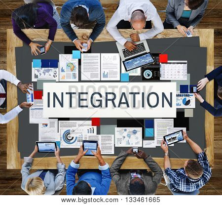 Integration Combine Blend Merge Togetherness Concept