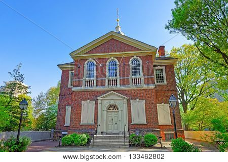 Arch Street Friends Meeting House In Philadelphia Pa