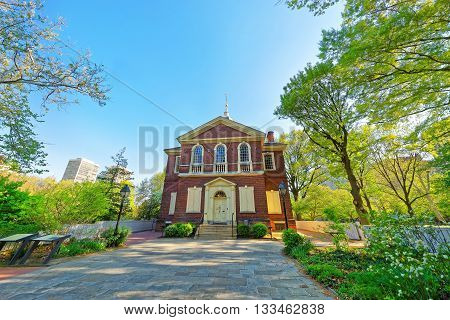 Arch Street Friends Meeting House In Philadelphia Of Pa