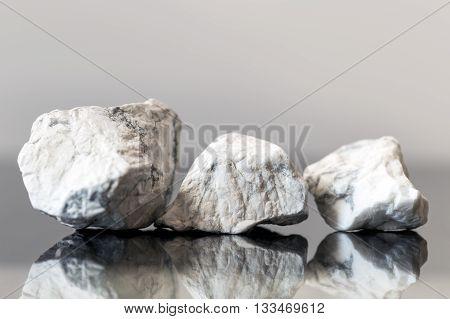 Mineral Stones Howlite, Uncut, Healing Stones