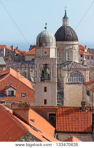 Churches in Dubrovnik on the Adriatic Sea