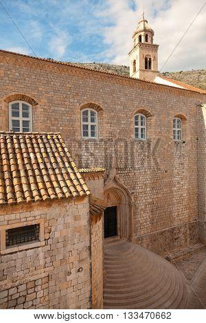 Church in Dubrovnik on the Adriatic Sea