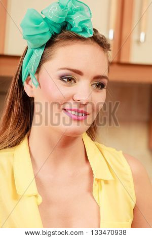 Pretty Pin Up Girl With Hairband Portrait