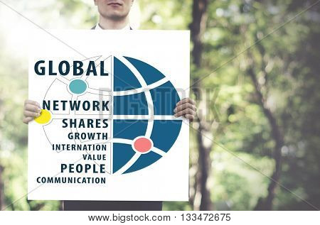 Global Networking Worldwide international Concept