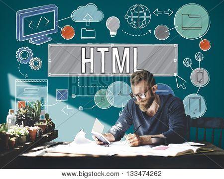 Homepage Domain HTML Web Design Concept