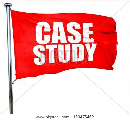 case study, 3D rendering, a red waving flag