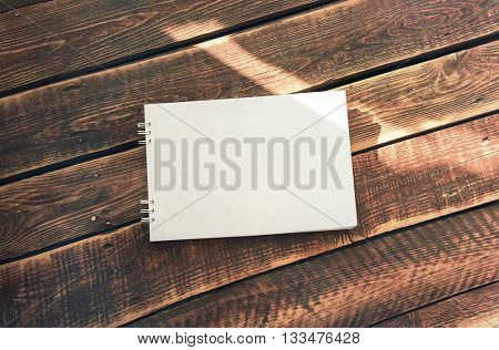 Photo template, for album for drawing on the background of wooden boards.
