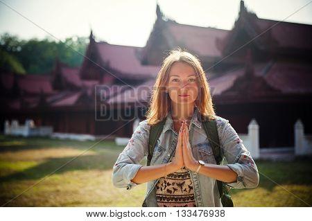 Traveler. Mandalay, Myanmar (burma)