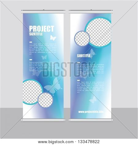Roll up banner template- presentation design, abstract design