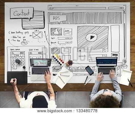 Content Creative Technology Planning Graphic Concept