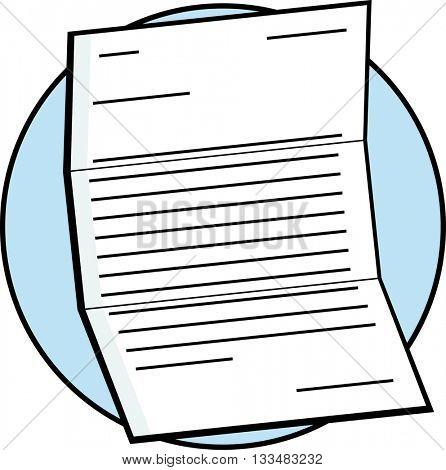 unfolded letter
