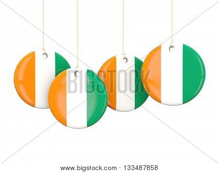 Flag Of Cote D Ivoire, Round Labels
