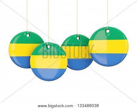 Flag Of Gabon, Round Labels