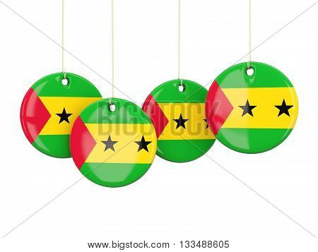 Flag Of Sao Tome And Principe, Round Labels