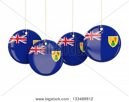 Flag Of Turks And Caicos Islands, Round Labels
