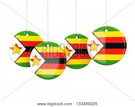 Flag Of Zimbabwe, Round Labels
