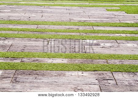 background old lumber brown floor in garden