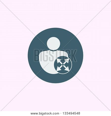 User Diagonal Icon In Vector Format. Premium Quality User Diagonal Symbol. Web Graphic User Diagonal