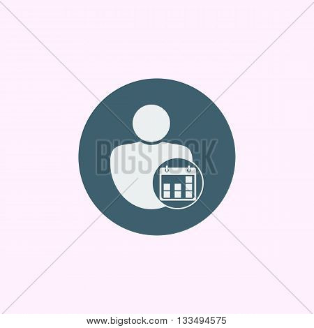 User Date Icon In Vector Format. Premium Quality User Date Symbol. Web Graphic User Date Sign On Blu