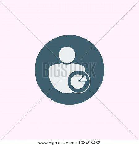 User Pie Icon In Vector Format. Premium Quality User Pie Symbol. Web Graphic User Pie Sign On Blue C